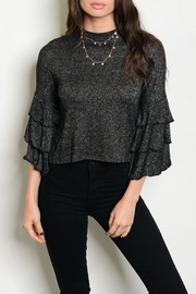 Shellys Ruffle Sleeve Top - Front cropped