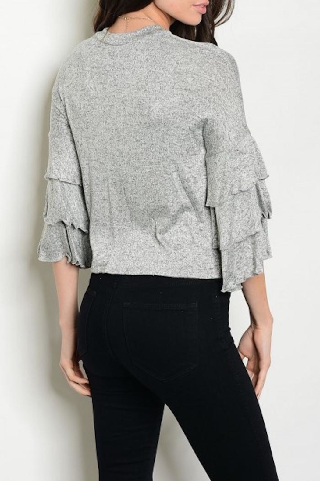 Shellys Ruffle Sleeve Top - Front Full Image