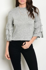 Shellys Ruffle Sleeve Top - Product Mini Image