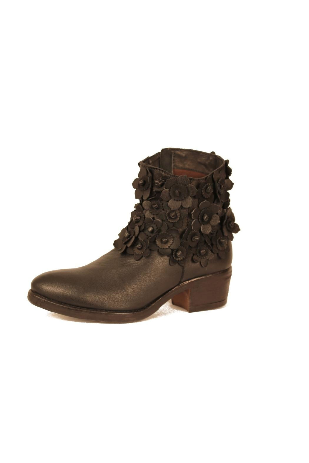 Sheridan Mia Black Flowered Bootie - Main Image