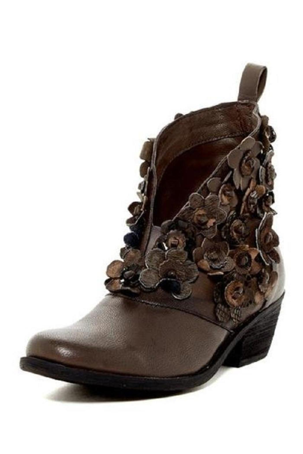 Flowered V Cut Bootie