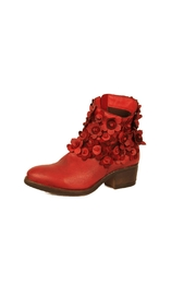 Sheridan Mia Red Flowered Bootie - Front cropped