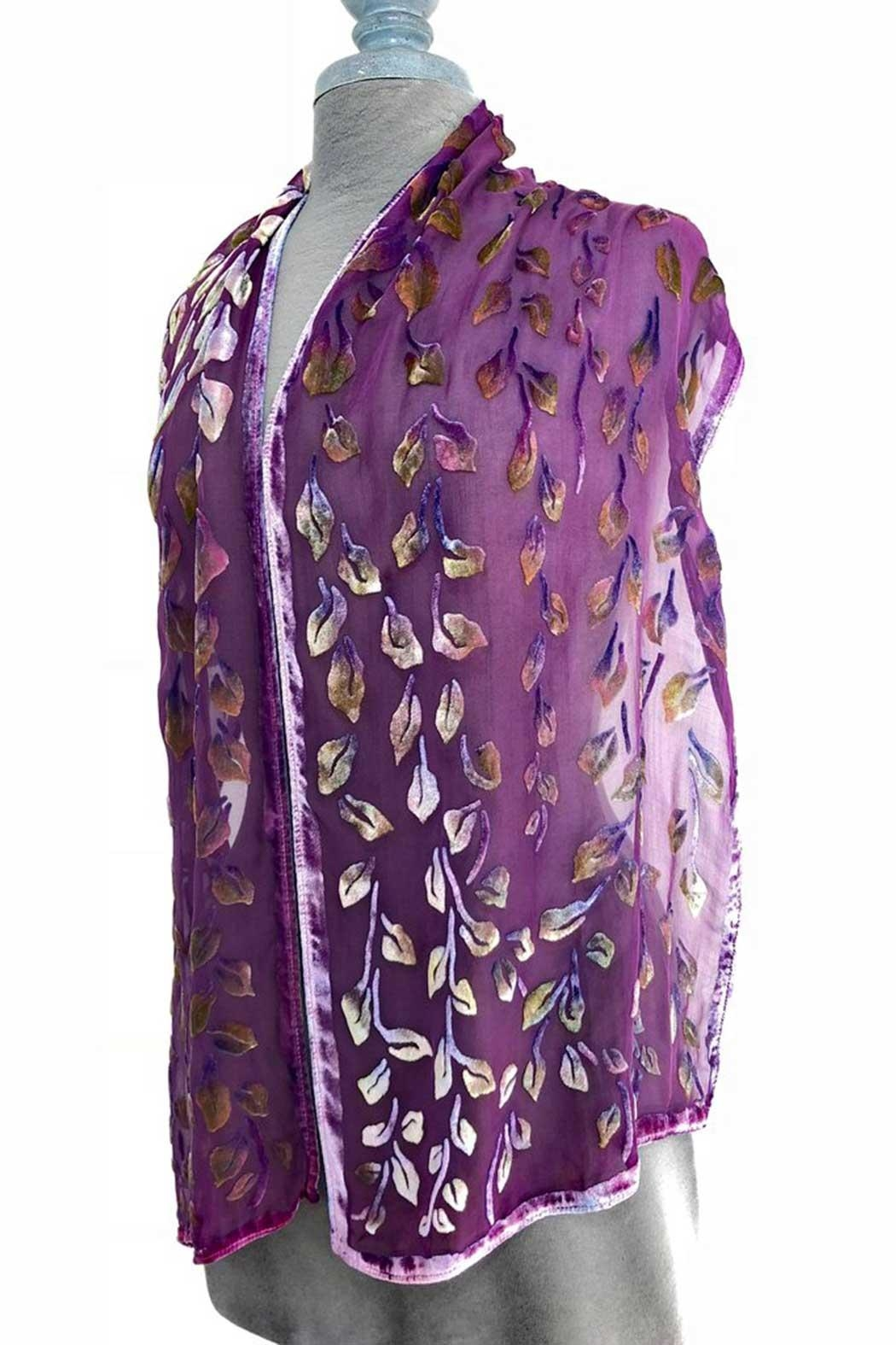 Sherit Levin Textiles Berry Vine Scarf - Front Full Image
