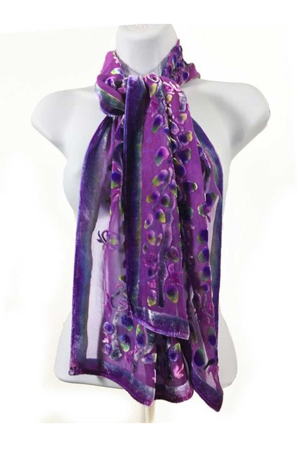 Sherit Levin Textiles Berry Willows Scarf - Main Image