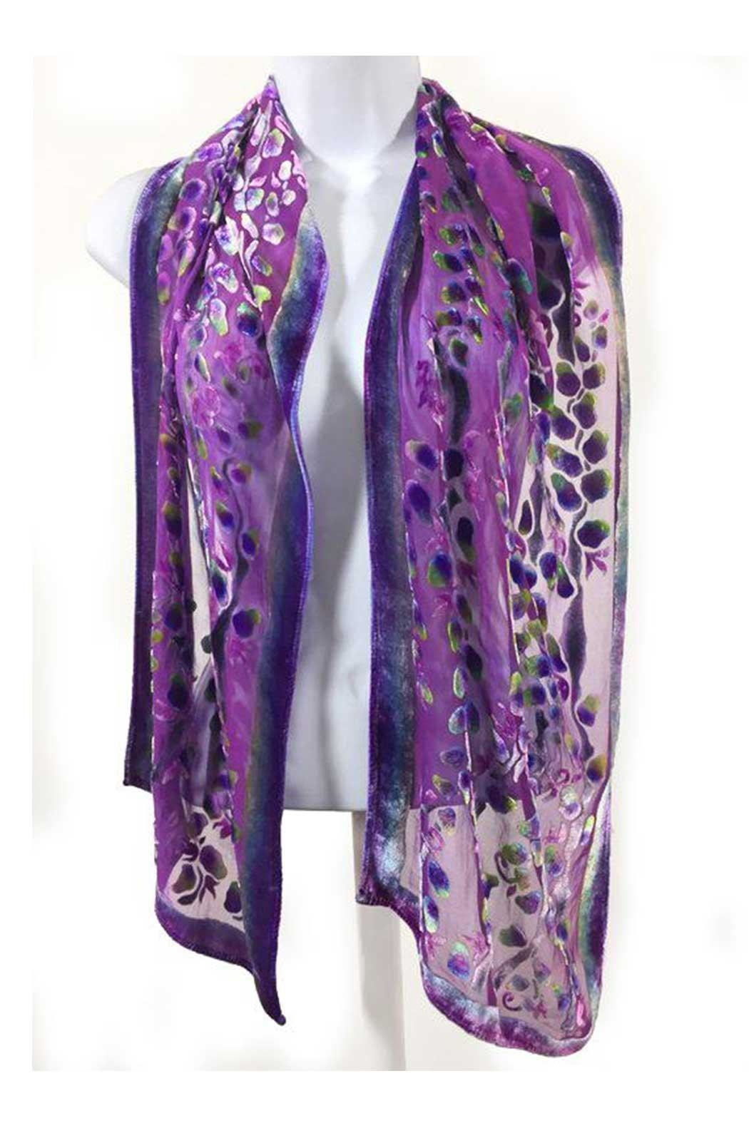 Sherit Levin Textiles Berry Willows Scarf - Front Full Image