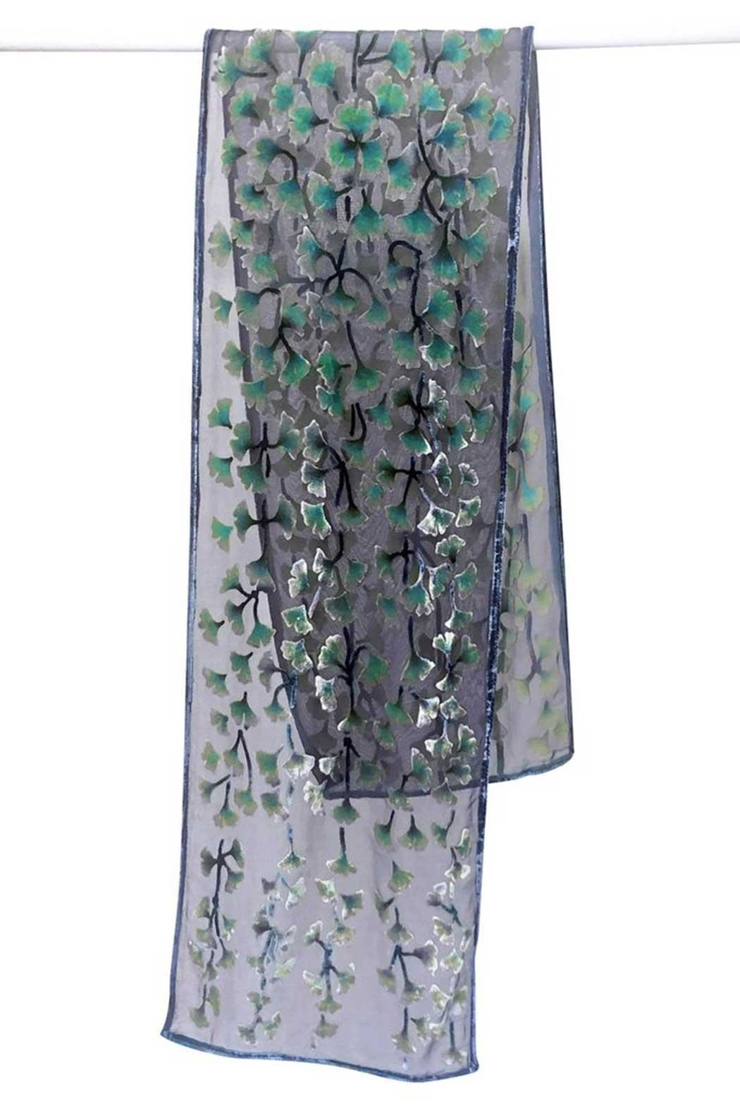 Sherit Levin Textiles Black Gingko Scarf - Side Cropped Image
