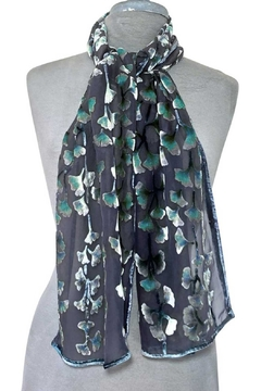Sherit Levin Textiles Black Gingko Scarf - Product List Image