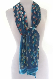 Sherit Levin Textiles Blue Vines Scarf - Side cropped