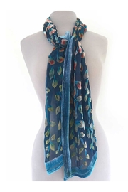 Sherit Levin Textiles Blue Vines Scarf - Front cropped
