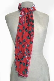 Sherit Levin Textiles Red Gingko Scarf - Product Mini Image