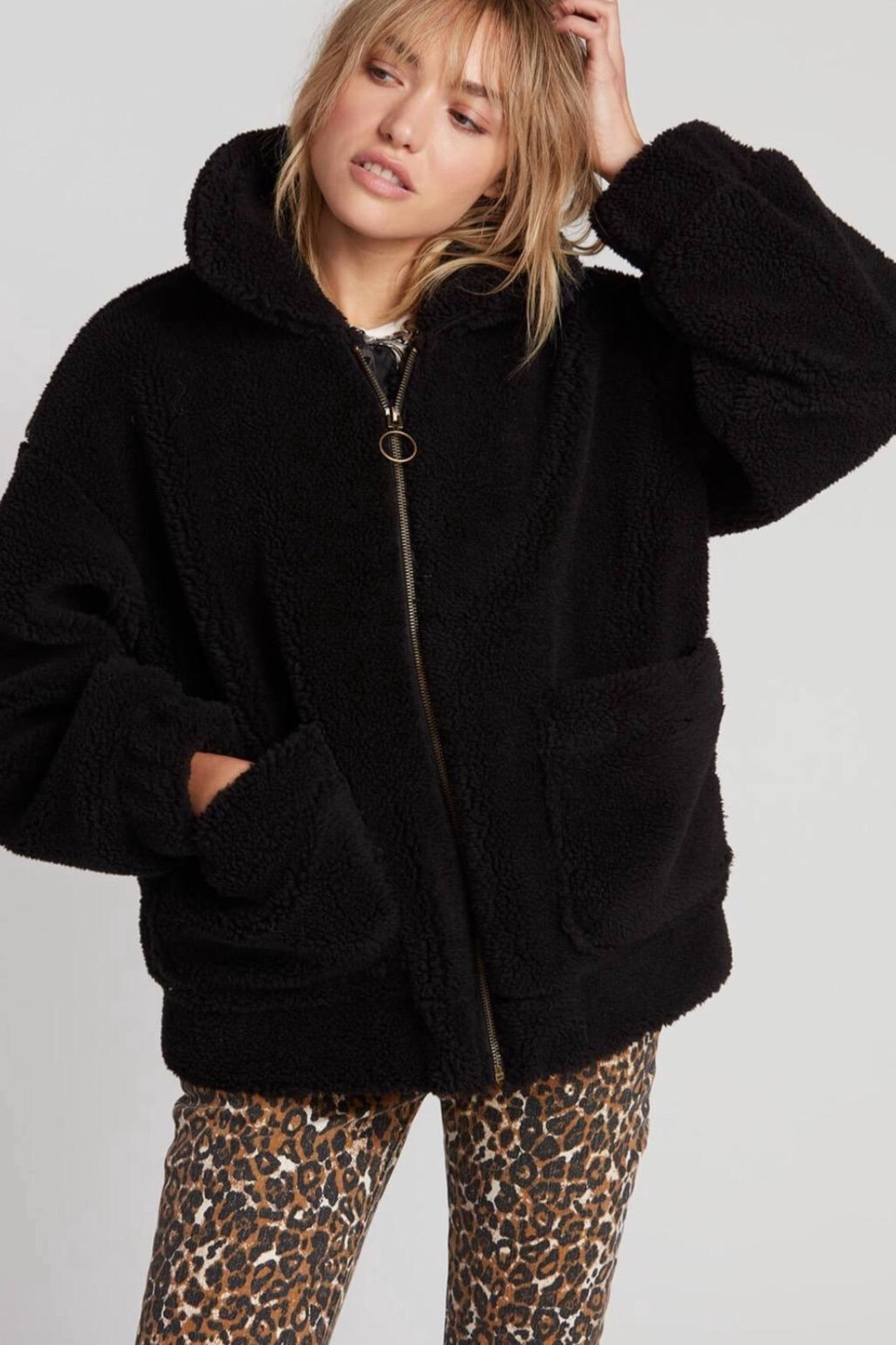 Volcom Sherpa Bomber Jacket - Front Cropped Image