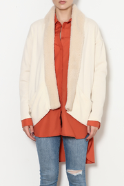 z supply Sherpa Cocoon Cardigan - Front full body