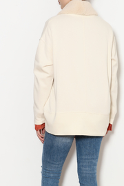 z supply Sherpa Cocoon Cardigan - Back cropped