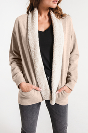 z supply Sherpa Cocoon Cardigan - Product Mini Image