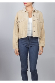 Miss Love Sherpa Corduroy-Cropped Jacket - Product Mini Image