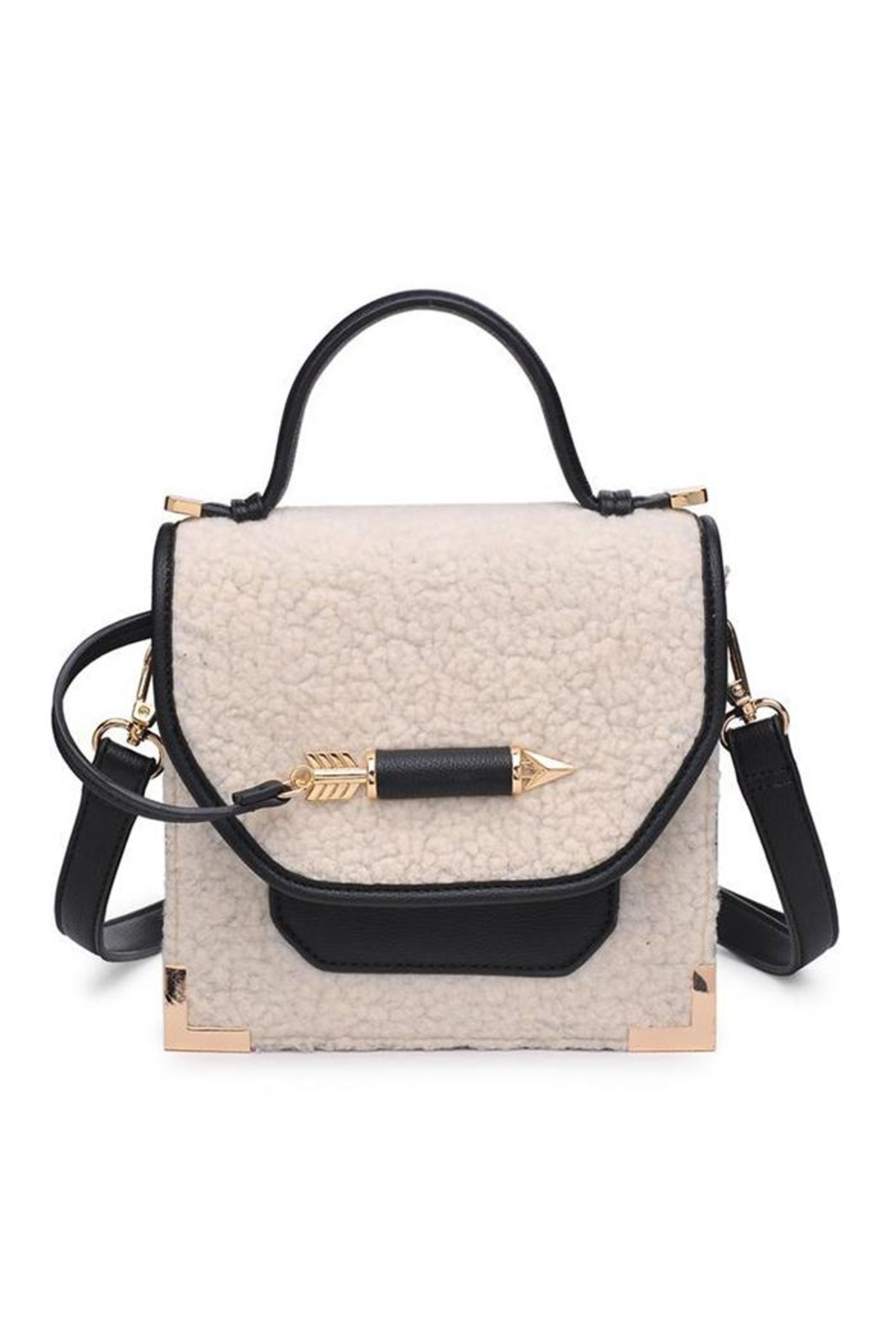 Urban Expressions Sherpa Crossbody Bag Front Cropped Image