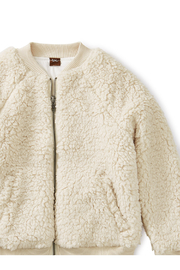 Tea Collection Sherpa Fleece Bomber Jacket - Front full body