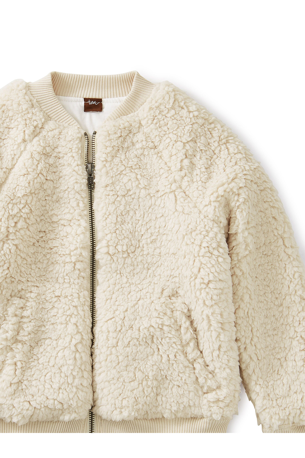 Tea Collection Sherpa Fleece Bomber Jacket - Front Full Image