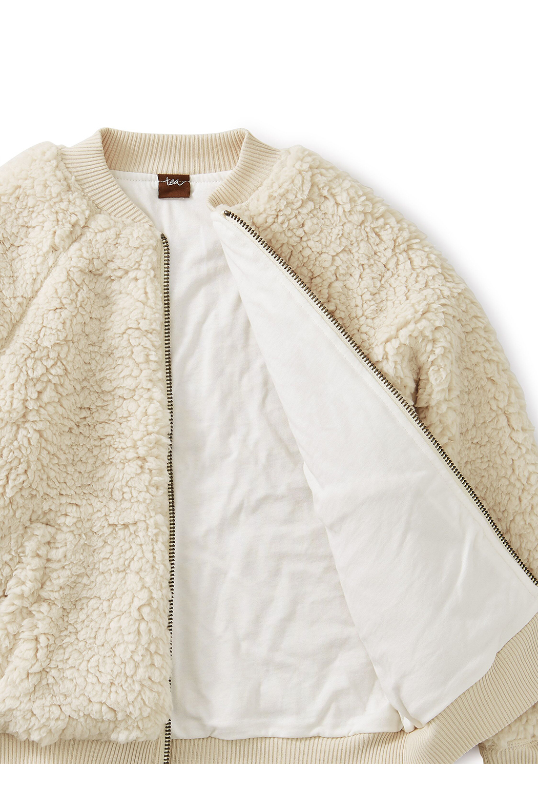 Tea Collection Sherpa Fleece Bomber Jacket - Side Cropped Image