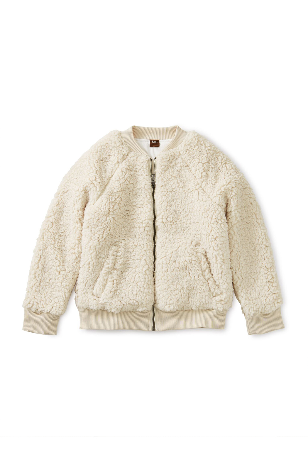 Tea Collection Sherpa Fleece Bomber Jacket - Back Cropped Image