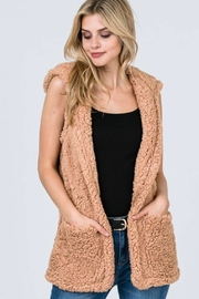 Polly & Esther Sherpa Hooded Vest - Product Mini Image