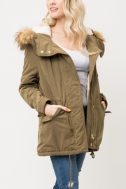 Love Tree Sherpa Lined Jacket - Product Mini Image