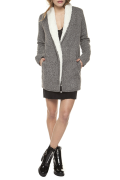 Shoptiques Product: Sherpa Lined Open Cardi Jacket