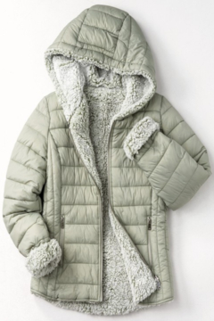 Trend Notes  Sherpa Lined Puffer Coat - Product List Image