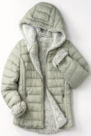 Trend Notes  Sherpa Lined Puffer Coat - Product Mini Image
