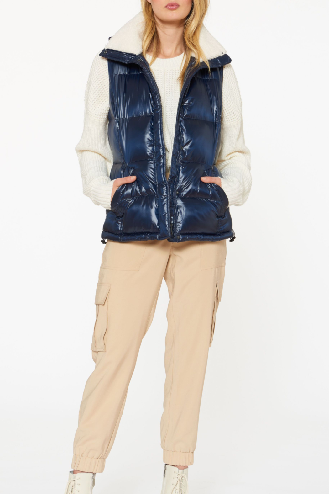 Sanctuary Sherpa-lined Puffer Vest - Main Image