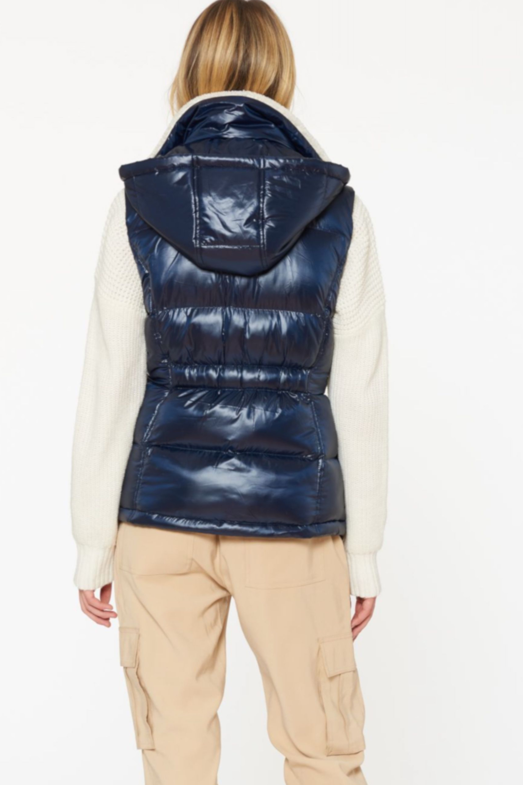 Sanctuary Sherpa-lined Puffer Vest - Front Full Image