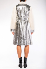 rehab lab  Sherpa Metallic Foil Coat - Side cropped