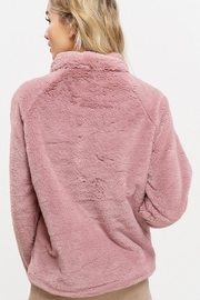 Listicle Sherpa Pull-Over Sweater - Back cropped