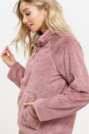 Listicle Sherpa Pull-Over Sweater - Front full body