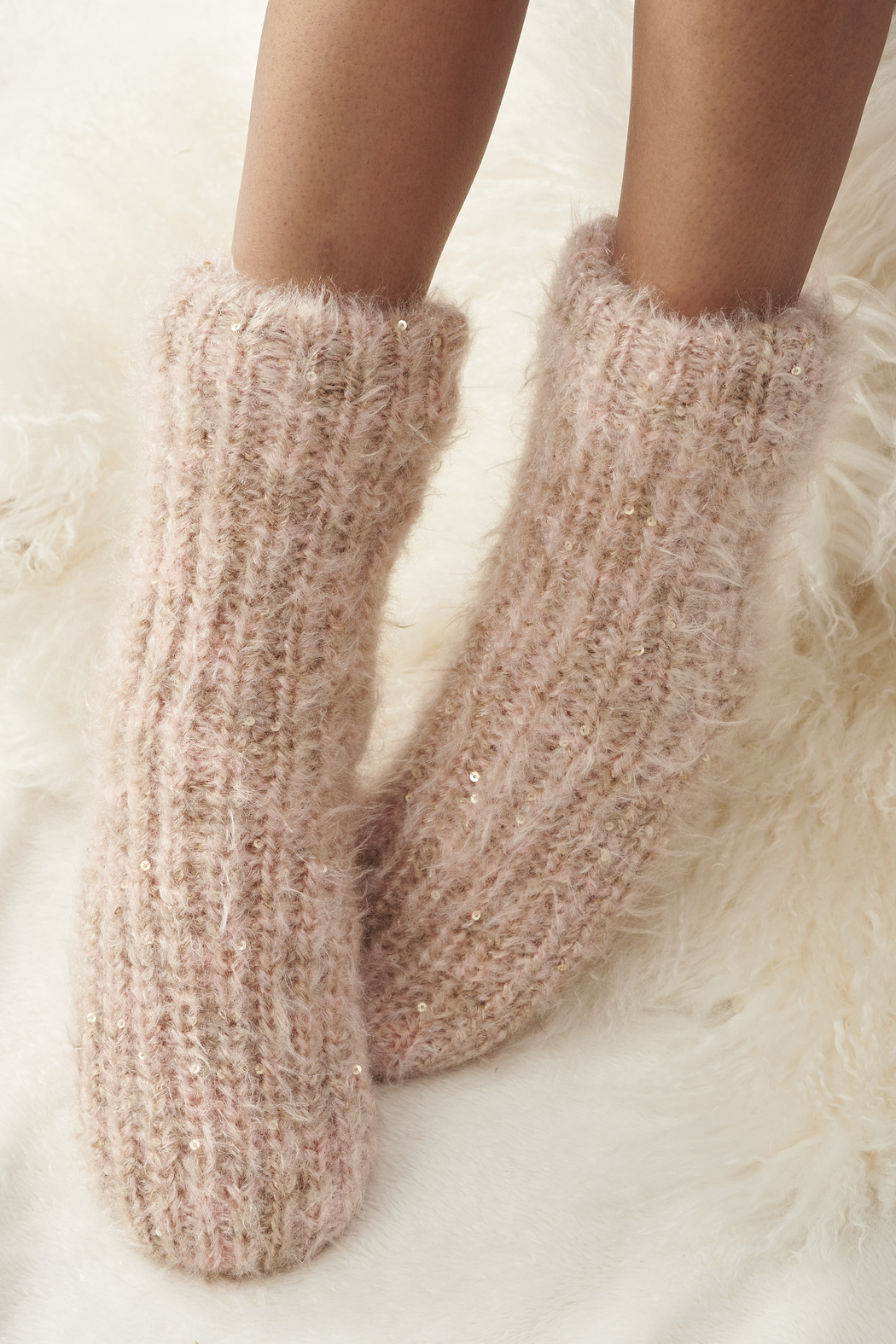 Charlie Paige Sherpa Slipper Sock - Front Cropped Image