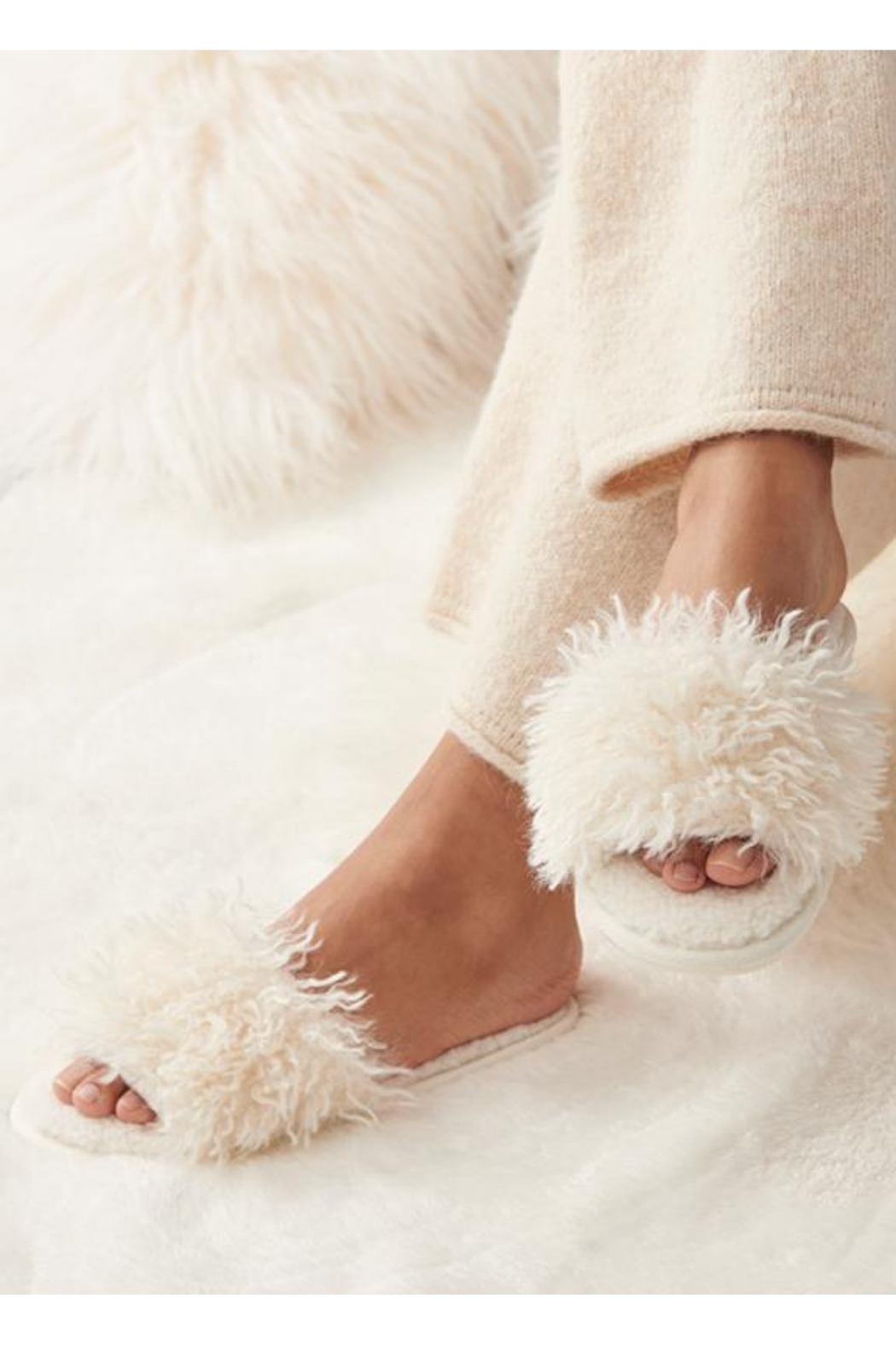 Giftcraft Sherpa Slippers - Front Cropped Image