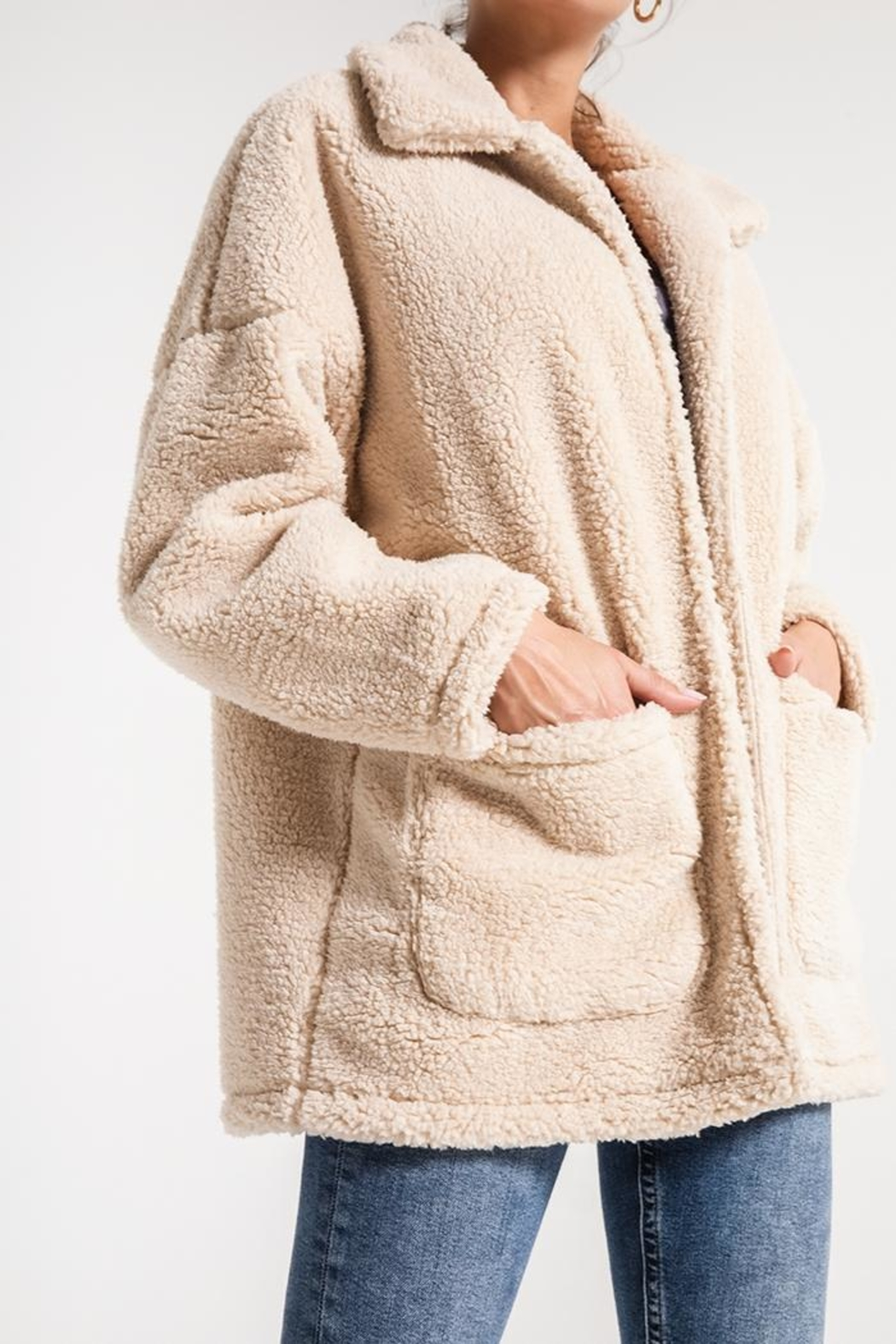 z supply Sherpa Teddy Jacket - Front Full Image
