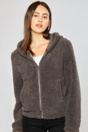 Reflex Sherpa Zip Up Hoodie Jacket - Product Mini Image