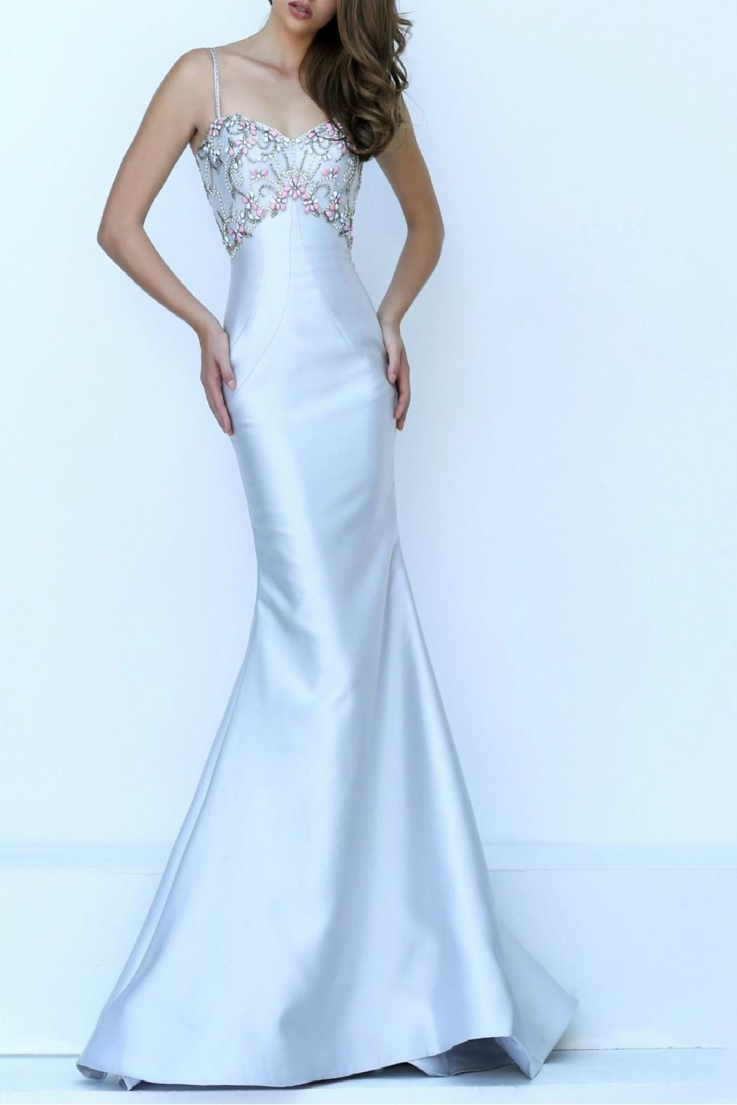 Sherri Hill Sheath Silk Trumpet - Front Cropped Image