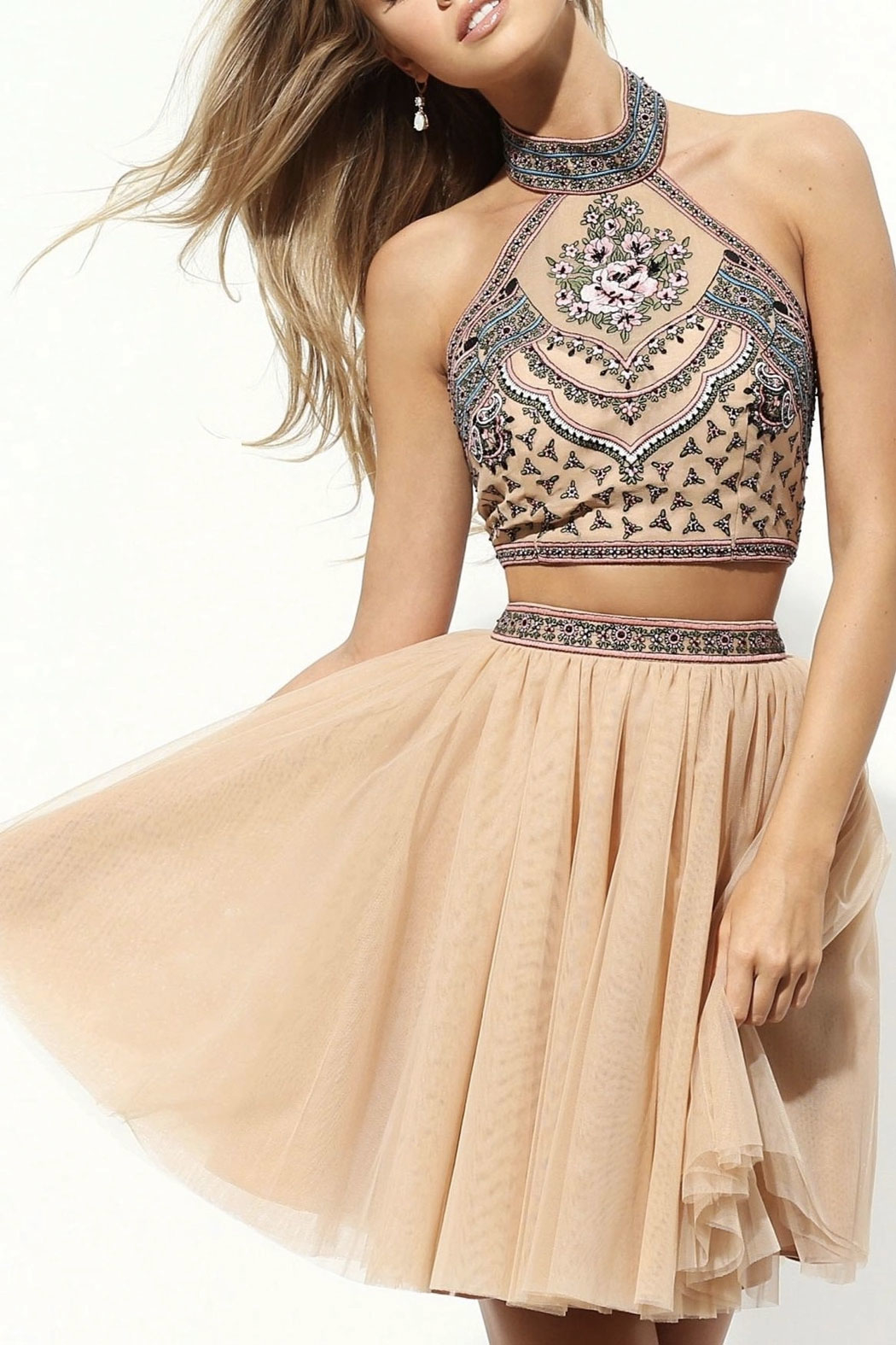 Sherri Hill Two Piece Boho Set - Front Cropped Image
