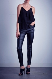 Shilla Black Ruffle Top - Front cropped