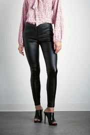 Shilla Black Wax Pants - Front cropped
