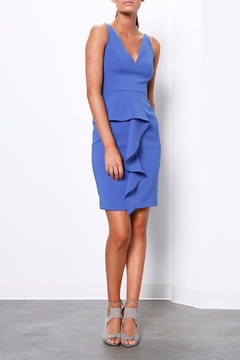 Shoptiques Product: Blue Ruffle Dress