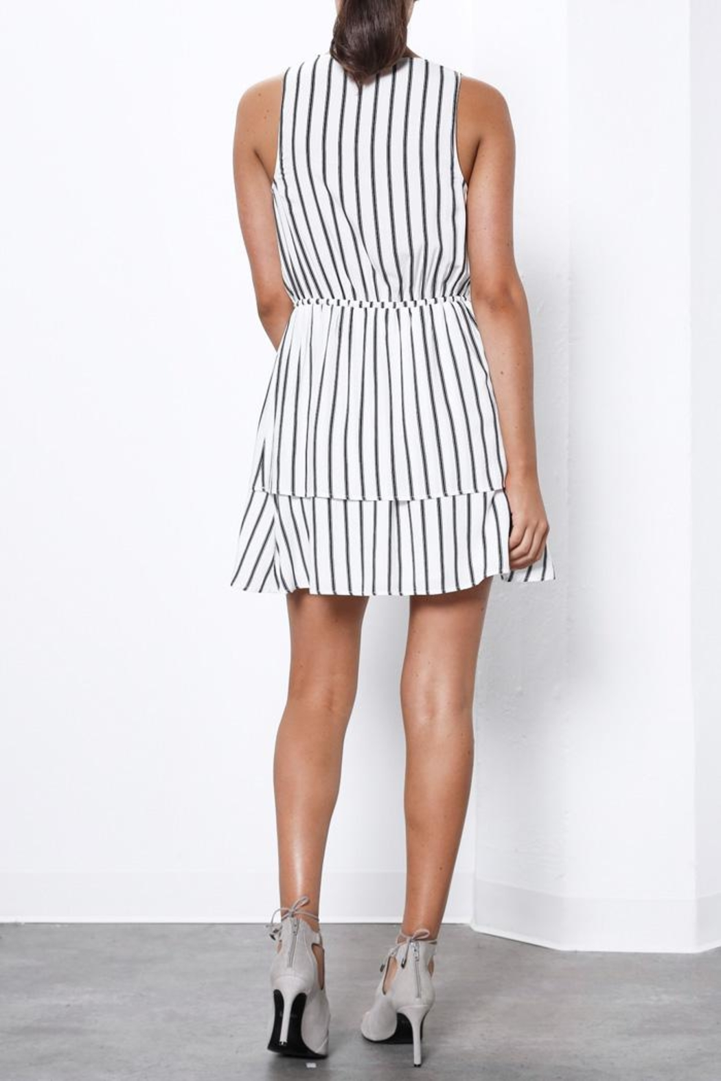 Shilla Creator Stripe Dress - Back Cropped Image