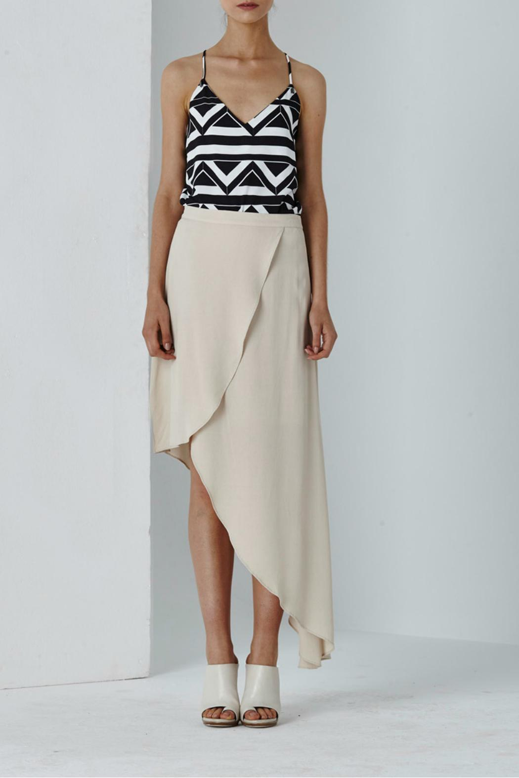 Shilla Dolce Drape Skirt - Front Cropped Image