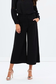 Shilla Flare Black Culotte - Front full body