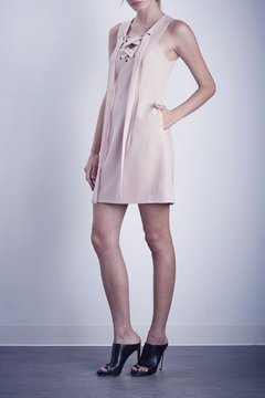 Shilla Lace Up Pink Dress - Product List Image