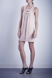 Shilla Lace Up Pink Dress - Front full body