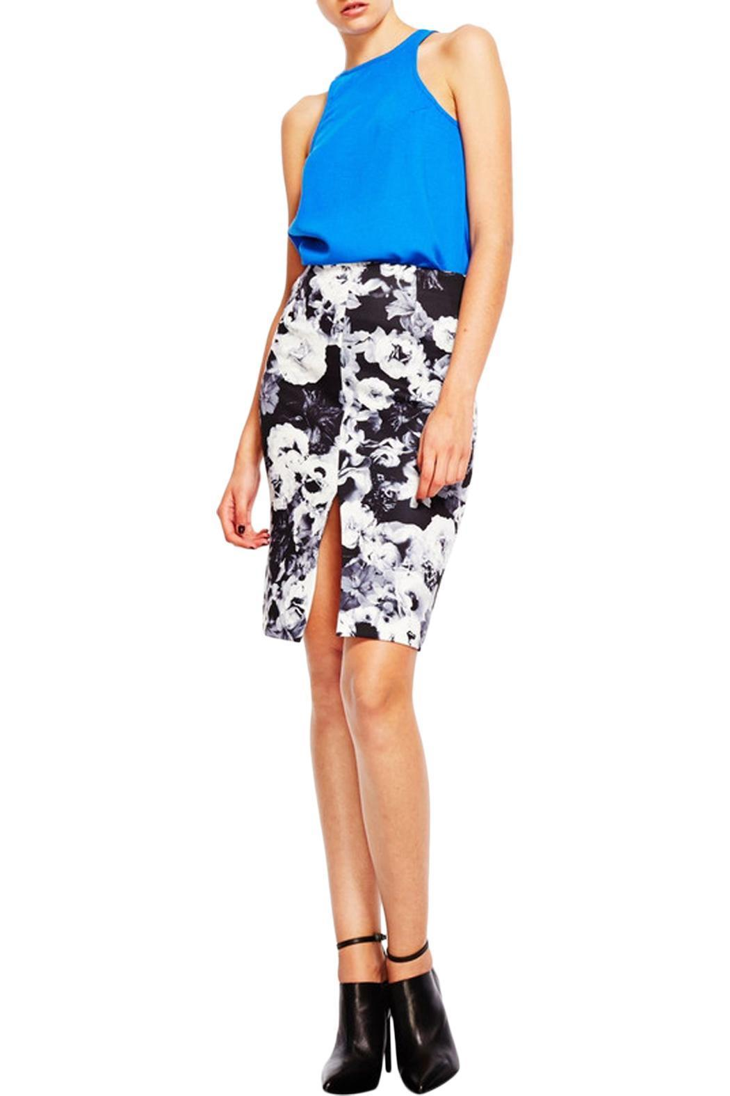 Shilla Shakers Floral Skirt - Front Cropped Image