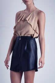 Shilla Vegan Leather Mini-Skirt - Front cropped
